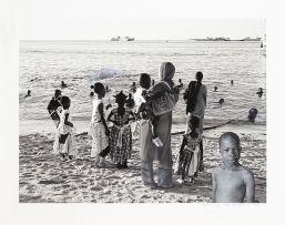 Sam Nhlengethwa in collaboration with Zwelethu Mthethwa; Beach Day