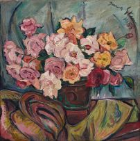 Irma Stern; Still Life with Roses