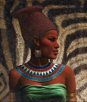 Vladimir Tretchikoff; Portrait of a Zulu Maiden