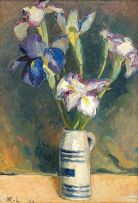 Maggie Laubser; Irises in a Beermug