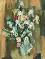 Clement Serneels; Still Life with Spring Flowers