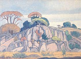 Jacob Hendrik Pierneef; Rocks, Game Reserve