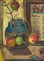 Irma Stern; Still Life with a Vase of Pomegranates