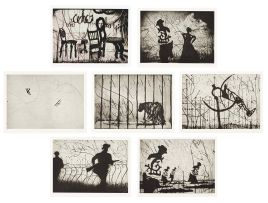 William Kentridge; Zeno II: including Planes; Chairs; Soldiers/Italian Front; Prosthetic Leg; Caged Panther; Bowlers and Man/Woman