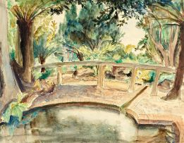 Maud Sumner; Bridge over a Stream