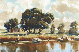 Sydney Carter; A Cottage by a Dam