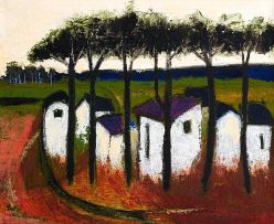 Pieter van der Westhuizen; Cottages under Trees