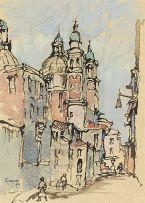 Gregoire Boonzaier; Kerk met Vier Groen Torings, Venesia [sic]