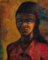 Gerard Sekoto; Pensive Young Woman
