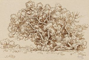 Gregoire Boonzaier; Tree Study, Onrus, Cape