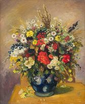 Pranas Domsaitis; Still Life with Flowers
