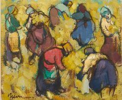 Hennie Niemann Snr; Women Harvesting