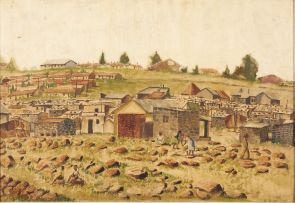 Ephraim Ngatane; Township Scene