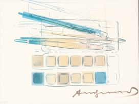 Andy Warhol; Watercolor Paint Kit with Brushes II.288