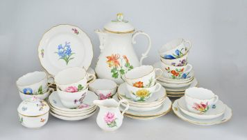 A Meissen part coffee set, early 20th century