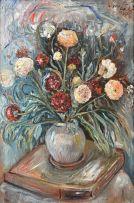 Lippy (Israel-Isaac) Lipshitz; Still Life of Flowers