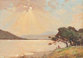 Walter Gilbert Wiles; Sunlight on a Lagoon