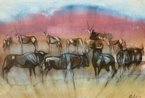 Gordon Vorster; Wildebeest and Gemsbok