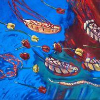 Louis Jansen van Vuuren; Tulips Drifting