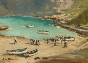 George William Pilkington; Boats on the Beach