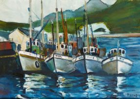 Kenneth Baker; Boats at the Dock