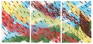 Durant Sihlali; Energy Force, triptych
