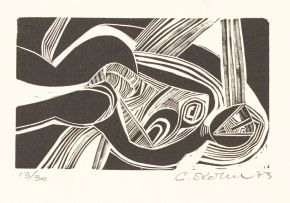 Cecil Skotnes; Untitled (Reclining Female Figure)
