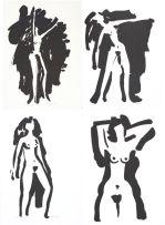 Ernst de Jong; Female Nudes, four prints