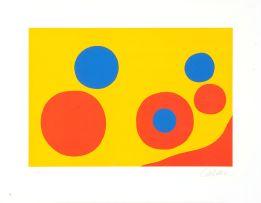 Alexander Calder; Untitled (Orange and Blue Spheres)