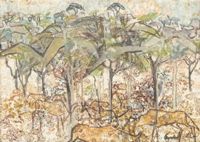 Gordon Vorster; Antelope under Acacia Trees