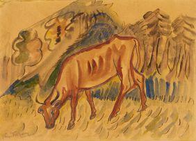 Reginald Turvey; Grazing Cow