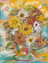 Jean Welz; Still Life of Daisies in a Vase