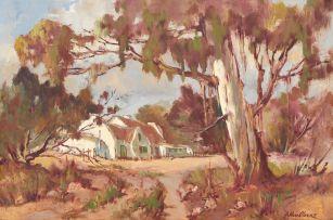 Johannes Oldert; House Through the Blue Gum Trees