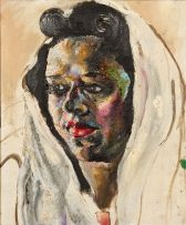 Harry Trevor; Woman with Headscarf