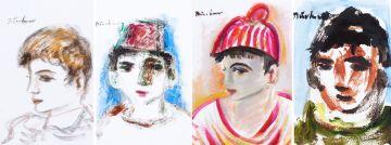 Carl Büchner; Four Portraits of Boys