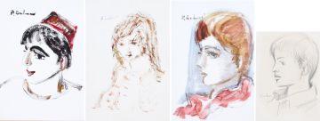 Carl Büchner; Four Portraits