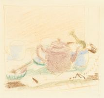 Wolf Kibel; Still Life with Cups and Teapot