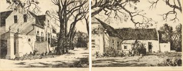Tinus de Jongh; Stellenberg Kenilworth Cape; Old Huguenot Cottage French Hoek Cape, two
