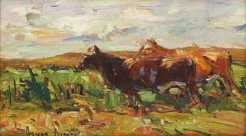 Adriaan Boshoff; Cattle in a Landscape