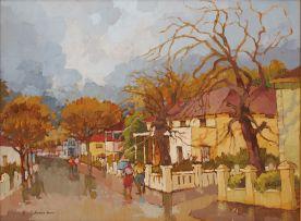 Kobus Louw; Rainy Street Scene