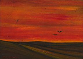 Herman van Nazareth; Landscape at Sunset