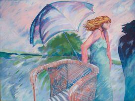 André Naudé; Woman with an Umbrella