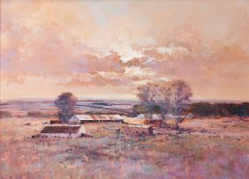 Mel Brigg; Farm at Dusk