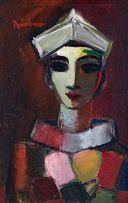 Carl Büchner; Harlequin Wearing a Sailor's Hat