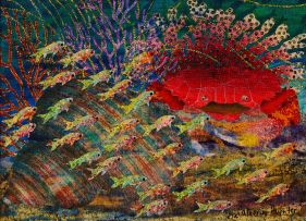 Catherine Paynter; Sea Life with Crab