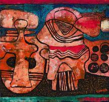 Lucky Sibiya; Figural Composition