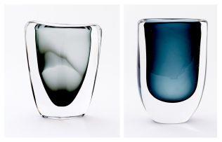 A Kosta Boda sommerso glass vase, Vicke Lindstrand, 1960s