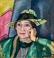 Edward Wolfe; Portrait of a Lady in a Hat