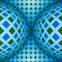 Victor Vasarely; Geometric Compostion