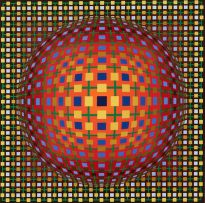 Victor Vasarely; Abstract Composition